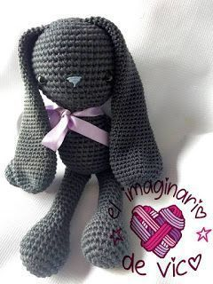 Crochet Rabbit Free Pattern, Crochet Dolls Free Patterns, Crochet Doll Pattern, Amigurumi Patterns, Love Crochet, Crochet Baby, Stuffed Animal Patterns, Crochet Animals, Crochet Projects