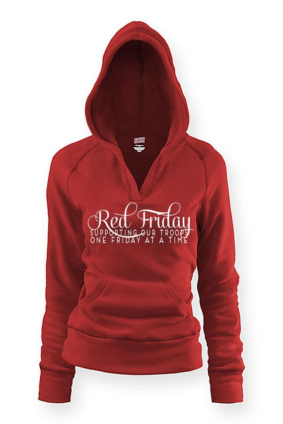 Red Friday - pullover hoodie. usmc navy army usaf wife girlfriend At Ease Designs