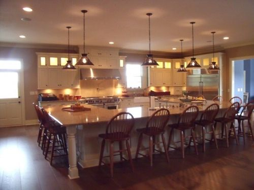 antiquewhitecabinets in kitchen | ... - Category: Kitchens - Image: Country Style Kitchen with Huge Island