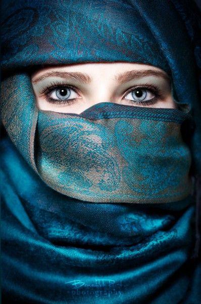 Mediterranean - Persian style #blue #veil