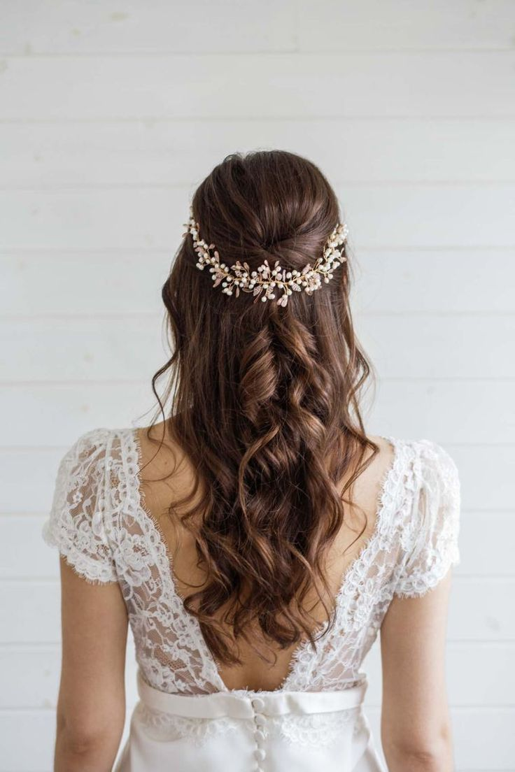Simple wedding hairstyle: Ideas with hair on the side and half attached #fixed #decoration #decoration tinkering #window window