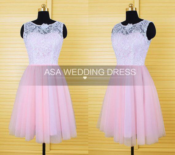 Pretty Pink Lace Homecoming Dresses Lace Applique 8th Grade Graduation Dresses 2016 Sleeveless Short Cute-dresses-cheap