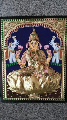 Gaja lakshmi tanjore painting.........