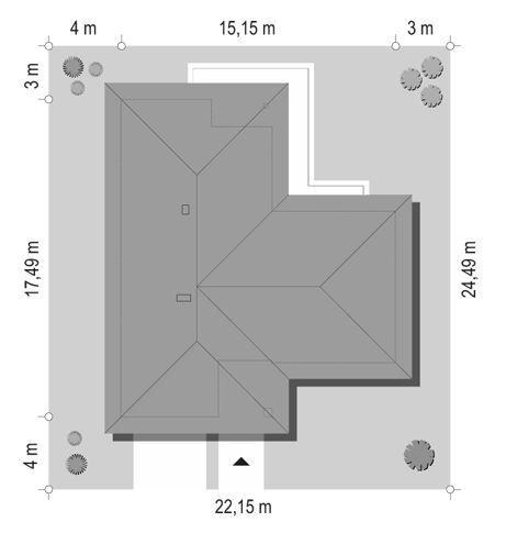 projekt-domu-parterowy-sytuacja