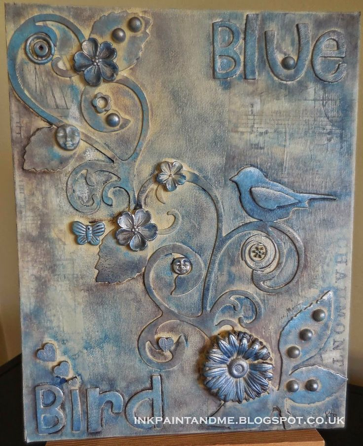 Mixed Media Canvas - Very 3D!