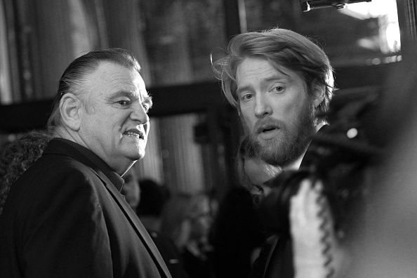 Brendan Gleeson and Domhnall Gleeson attend the 'Brooklyn' premiere during the 2015 Toronto International Film Festival held at Winter Garden Theatre on September 13, 2015 in Toronto, Canada.