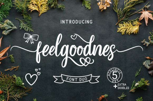Download Feelgoodnes (Font) by kammaqsum · Creative Fabrica in 2020 ...
