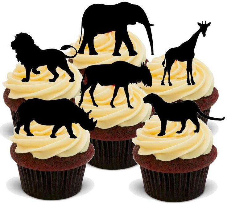 Edible D Animal Cake Toppers