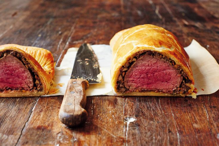 Beef Wellington from Jamie Oliver's Jamie's Comfort Food. This luxurious dish works for parties and special occasions. Once prepared it's super-easy to cook and serve.