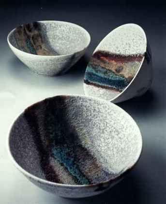 Cerámicas de Jacqui Ramrayka en Studiopottery.co.uk - Porcelana tazones.