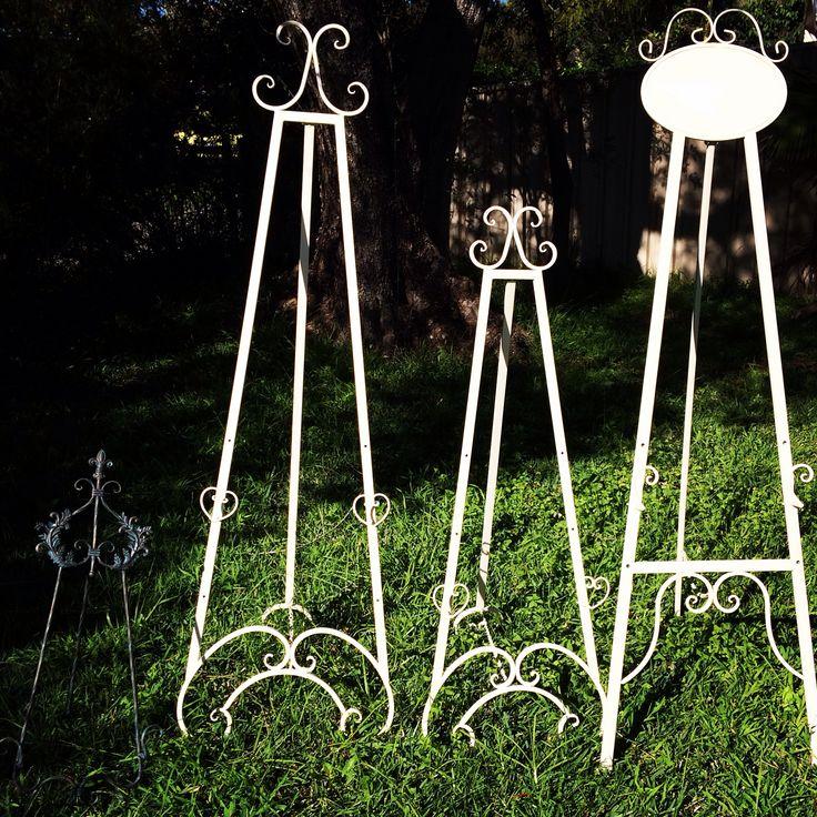 Our range of metal easels available to hire.   www.hellovintage.com.au info@hellovintage.com.au  #hellovintage #vintage #vintagehire #vintagewedding #wedding #weddinghire #weddingprops #weddingfurniture #easel #metal
