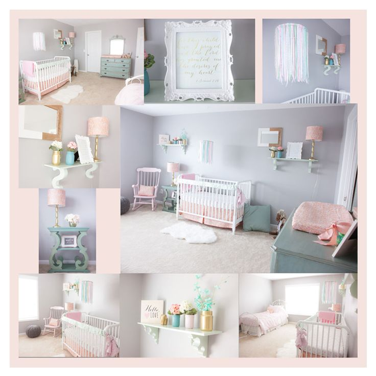 Best Pink Mint And Gray Baby Girl Nursery Baby Girls Light 400 x 300