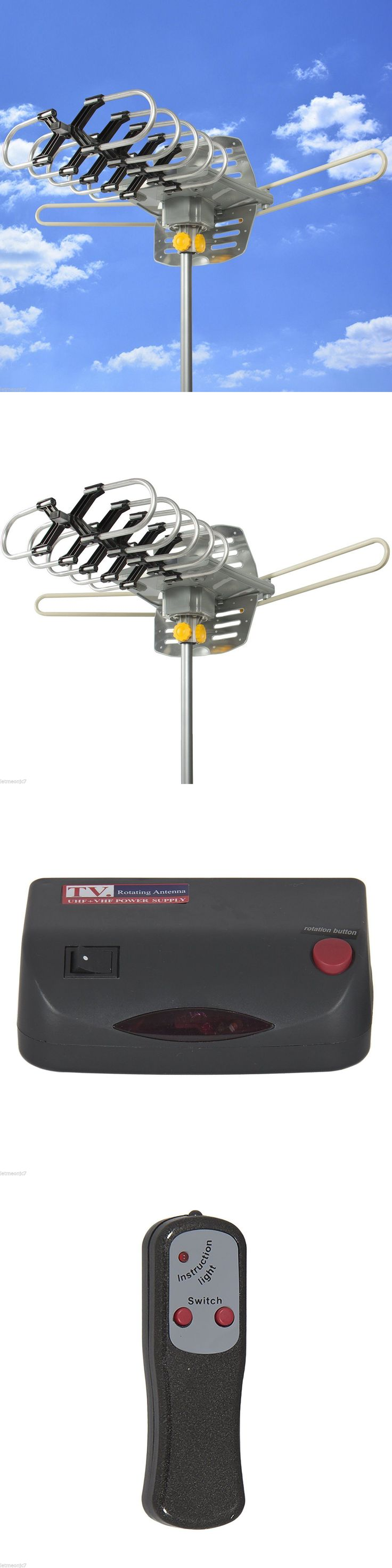 Antennas and Dishes: Hdtv Outdoor Antenna Remote Control Rv Boat Home Hd Tv Ultra Power Amplified Uhf -> BUY IT NOW ONLY: $47.85 on eBay!