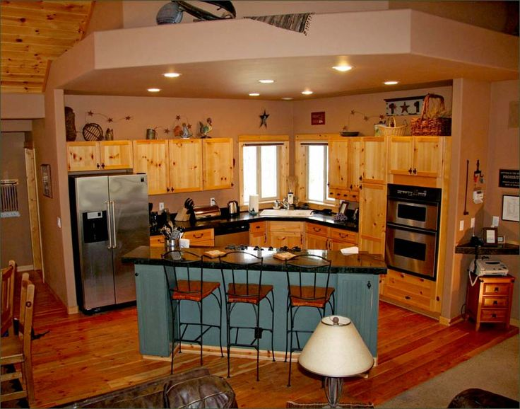 25 best ideas about knotty pine cabinets on pinterest for Pine kitchen ideas