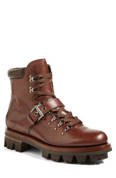 Prada Leather Hiking Boot (Men) available at #Nordstrom