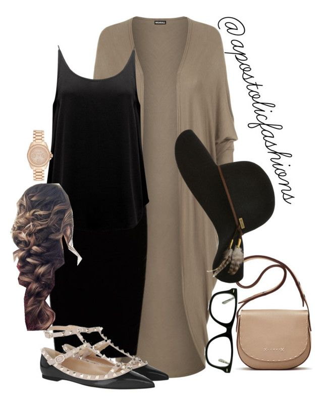 """Apostolic Fashions #1854"" by apostolicfashions on Polyvore featuring WearAll, Jupe By Jackie, BA&SH, Valentino, Michael Kors, GlassesUSA, Elizabeth and James and Billabong"