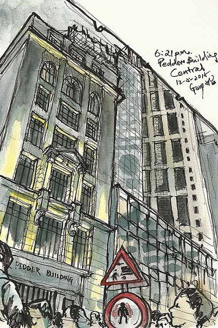 Rush Hour at Pedder Building ♦ Central Hong Kong