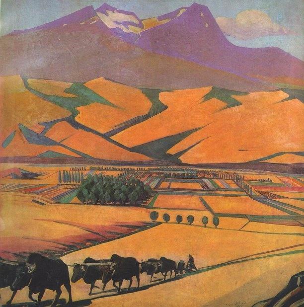 Martiros Saryan - Mount Aragads, 1925.