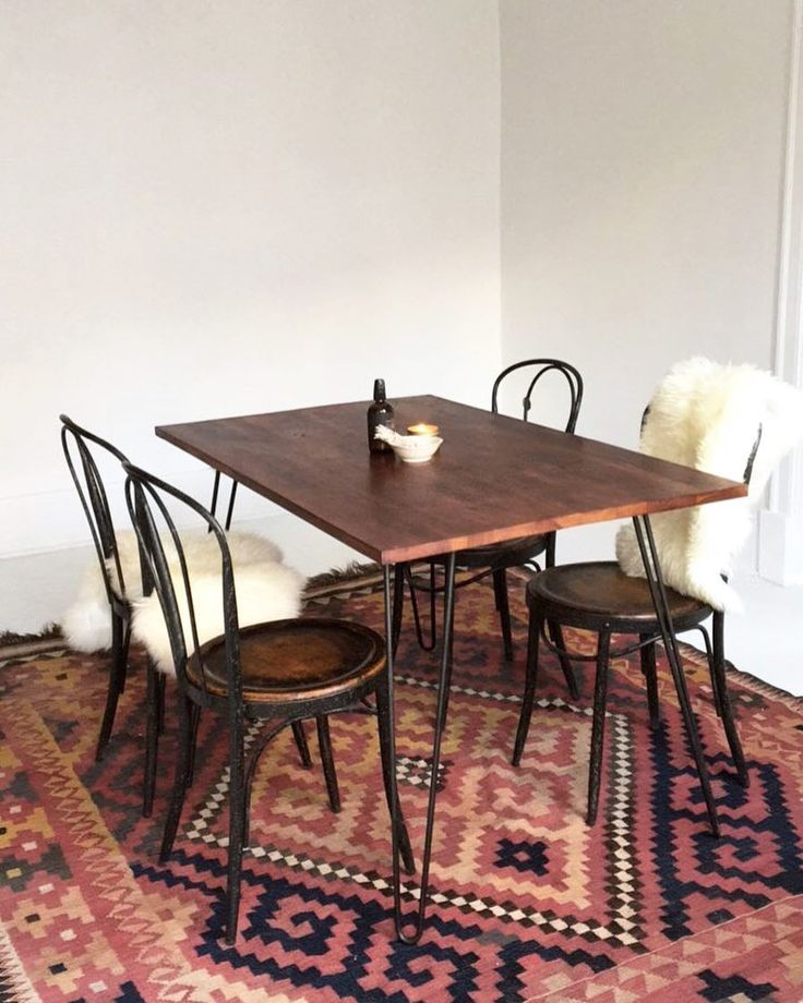 Our Industrial Hairpin Leg Dining Table & Industrial French Bistro Dining Chairs looking perfect in our client's home! Perfect for both residential households and cafe / restaurant use! Check out our website for much more selection!