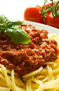 Low FODMAP and Gluten Free Recipe -  Healthy Spaghetti Bolognese  -- (Update)  http://www.ibssano.com/low_fodmap_recipe_spaghetti_bolognese.html