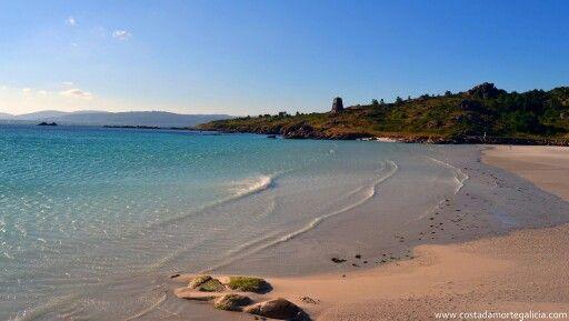 Playa de San Pedro en O Pindo, Carnota