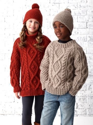 Chill Chaser Cabled Pullover | Yarn | Free Knitting Patterns | Crochet Patterns | Yarnspirations