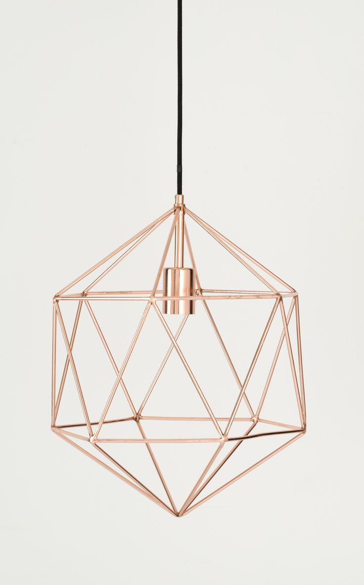 Skyer Gem Pendant, Copper. Main light fixture for kitchen. Cool shape makes it unique.