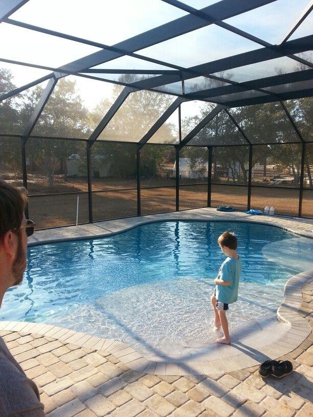 Love my zero entry pool