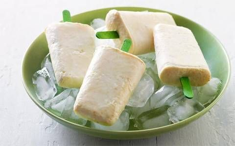 Fruit and vanilla yoghurt ice blocks: One bite into these and you will be transported to a tropical island.