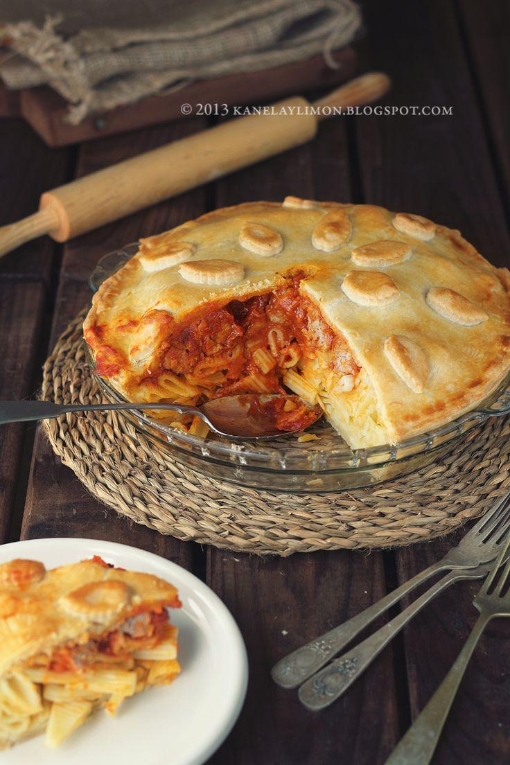 pasta meatballs pie (2)