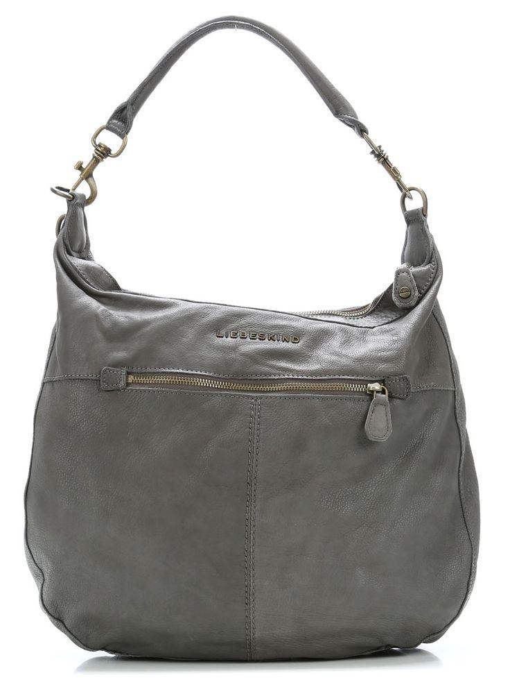 wardow.com - #Liebeskind, Vintage Pazia Beuteltasche Leder french grey 45 cm