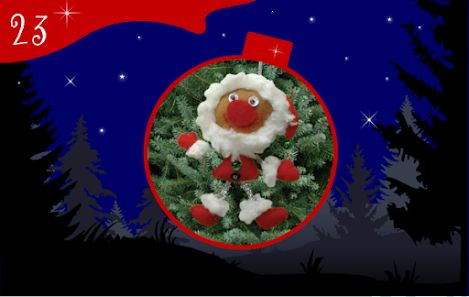 Jour 23 : un Père Noël rigolo à accrocher dans le sapin ! - CREAKIT Loisirs Créatifs