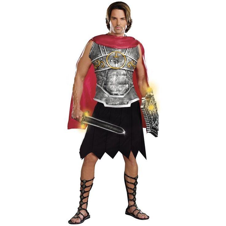Greek Warrior Costume Adult Mens Roman Gladiator Halloween Fancy Dress #Dreamgirl