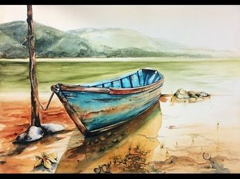 Arches Watercolor Paper: Hot Pressed, 140lb, 100% Cotton, size 10X14 Pad Right now I paint with Holbein Watercolors but when I painted this boat I was still ...