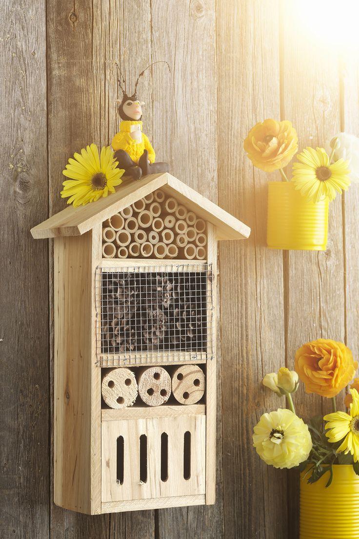 Bee hotel www.panduro.com #DIY #bee #house #hotel