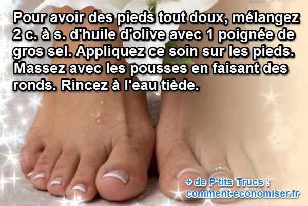 Les pieds, c'est vrai qu'on ne s'en préoccupe pas vraiment. Et pourtant ils sont malmenés au quotidien. C'est pourquoi nos petits pieds ont besoin de soins réguliers. Voici ma recette de soin pour les pieds pour avoir une peau toute douce.  Découvrez l'astuce ici : http://www.comment-economiser.fr/soin-des-pieds-maison.html?utm_content=buffer5ecb2&utm_medium=social&utm_source=pinterest.com&utm_campaign=buffer