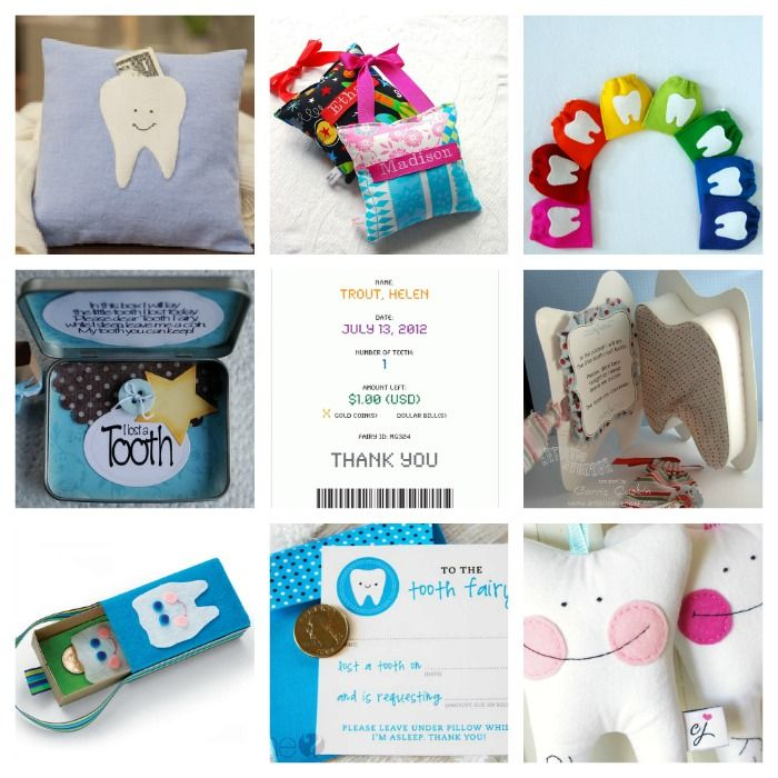 Tooth Fairy 101: Crafts, Free Printables, Tooth Fairy Pillows, Tooth Fairy Boxes