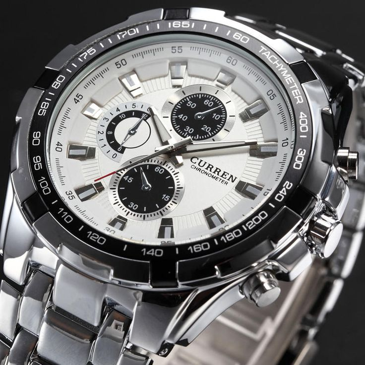 Curren 8023 Fashion Men Style Watch Waterproof Fake Three Dials Analog Quartz Watch at Banggood