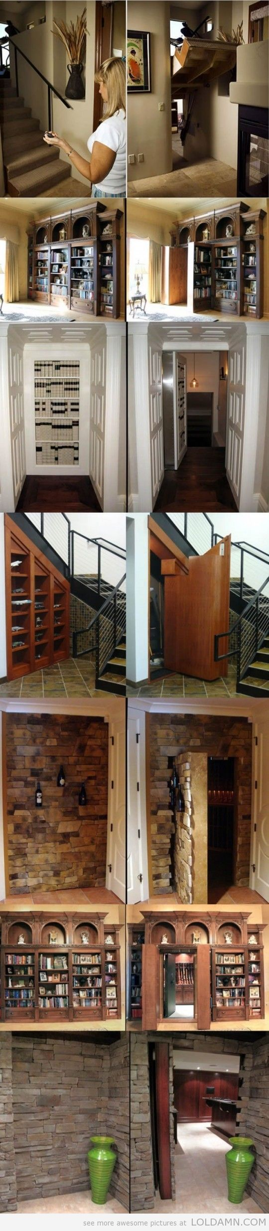 I want Hidden Passageways in my house!