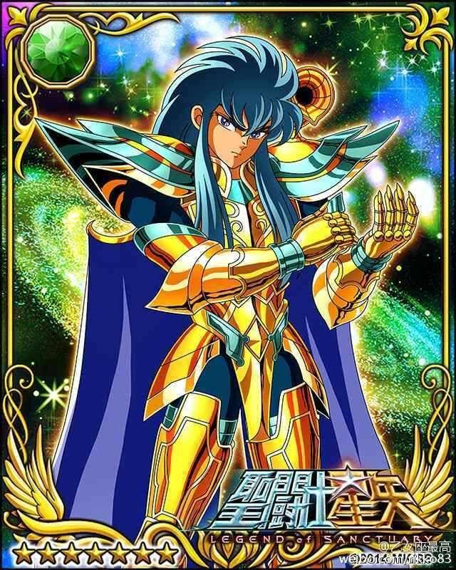 Gold Saint Aquarius Camus 1 Galaxy Cards version Saint Seiya Legend of Sanctuary