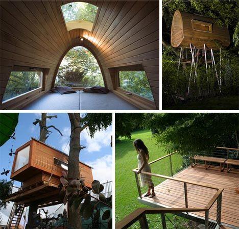 Super cool tree houses!