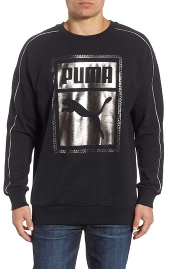 46958d5e8b68 PUMA CHAINS LOGO GRAPHIC SWEATSHIRT.  puma  cloth