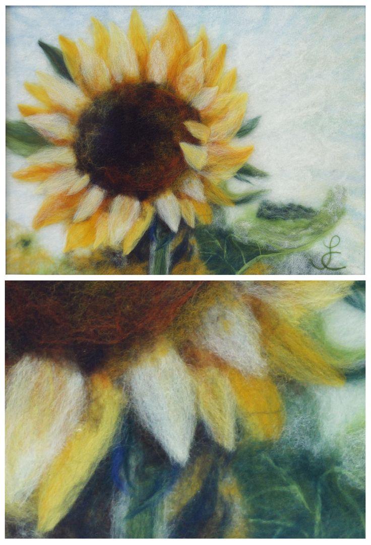 Sunflower by wool.