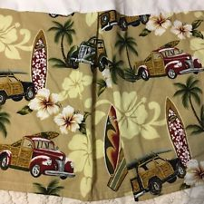 Baby Crib Bedskirt Beach Surfboard Tropical