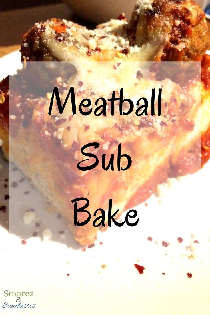 Meatball Sub Bake - Smores and Sundresses #dinner #recipe