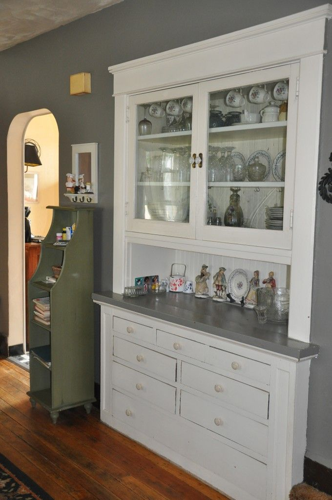 Built In China Cabinet In Bungalow Home But Old Use Mine As A Liquor Cabinet Of Course Casa