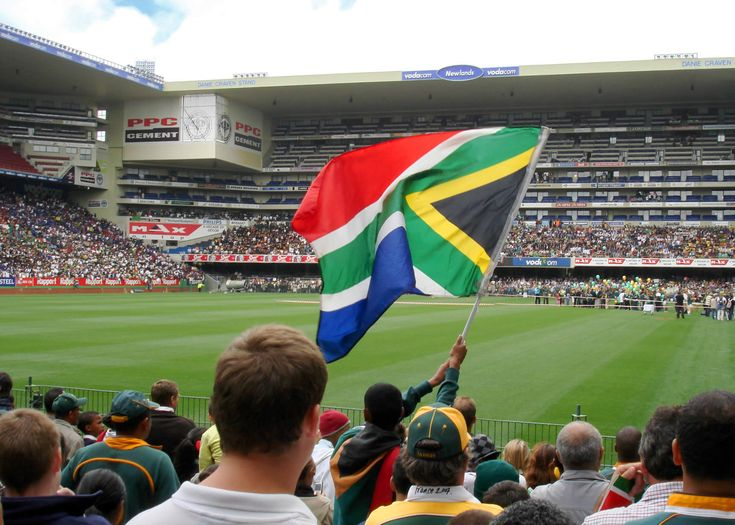 The South African flag at Ellis Park Rugby Stadium