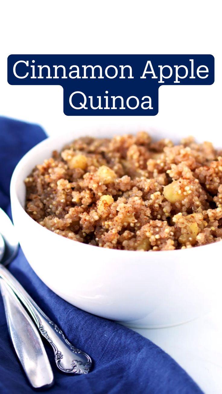 Quinoa Recipes Easy, Healthy Breakfast Recipes, Brunch Recipes, Whole Food Recipes, Quinoa Breakfast Bowl, Sweet Breakfast, Alkaline Breakfast, Dairy Free Recipes, Vegan Recipes