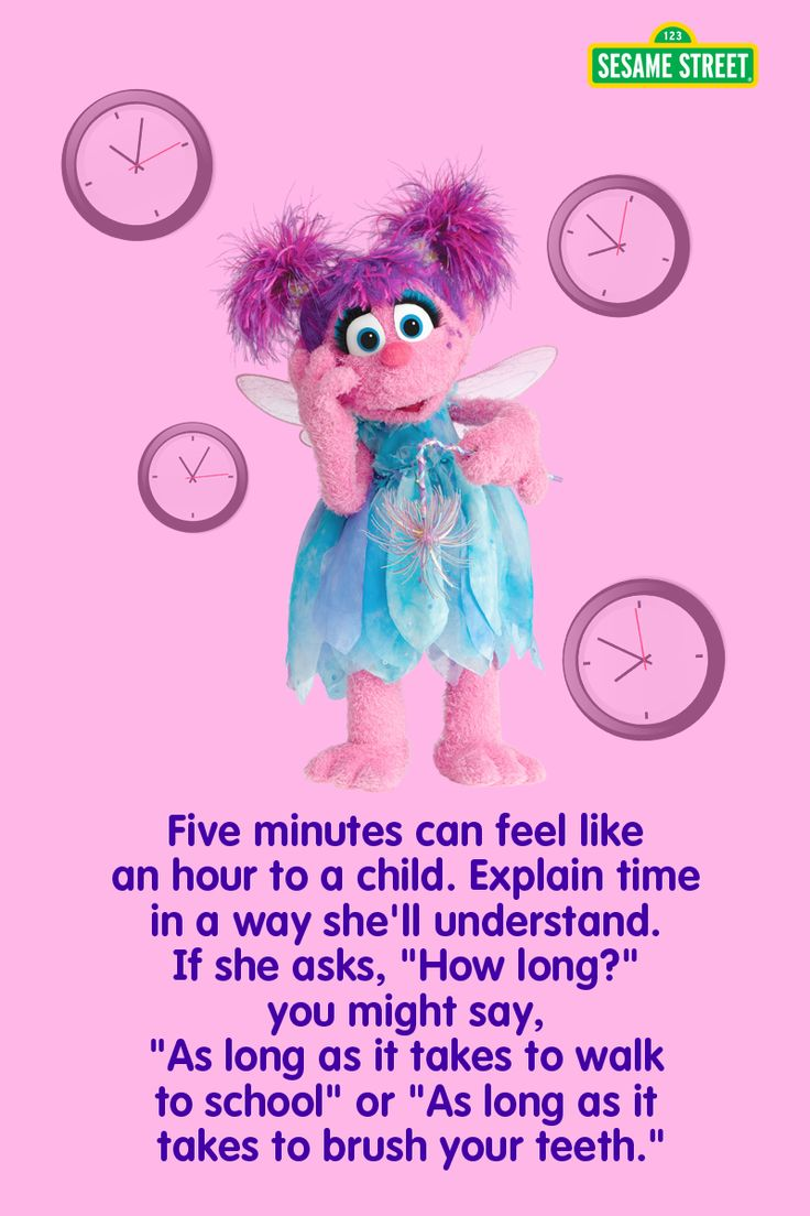 Waiting patiently can be a huge challenge to a preschooler. Here's a Sesame Street tip to help you explain to your child how long something takes when he is not patient. For more tips and resources: http://www.sesamestreet.org/challenges #abbycadabby