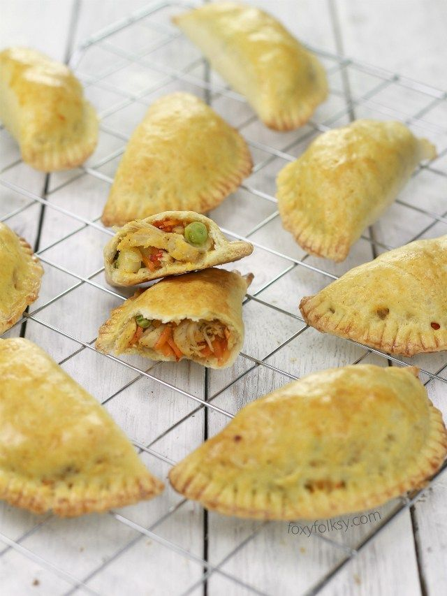 chicken empanada. Add cumin and paprika. Used dough recipe from Epicurious.